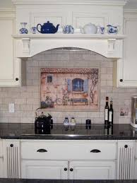 country french splash back and white kitchen