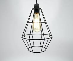 full size of modern industrial black white copper metal cage wire pendant chandelier spider lamp in