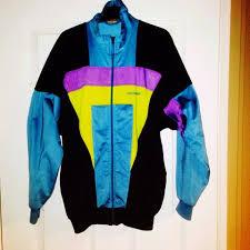 adidas vintage jacket. adidas vintage/retro jacket shellsuit zipup men\u0027s size small. brought from vintage store. great rave or festival jacket. black purple yellow and light blue.