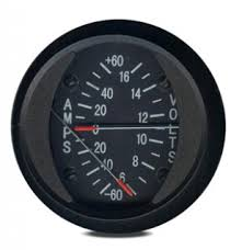 swift gauge 2 inch round ammeter 60a from aircraft spruce Shunt Amp Meter Wiring Diagram (click image for a larger view)