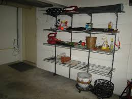 ... Hanging Shelves On Cinder Block Walls Large Square Silver Stayed Rack  Thin Strong Iron Material Modern ...