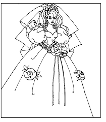 Barbie da stampare et colorare. Barbie Sposa Disegni Per Bambini Da Colorare