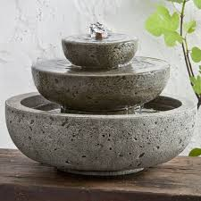 garden fountain concrete fountains concrete fountain parts japanesse relax relaxing wall table leaf plant