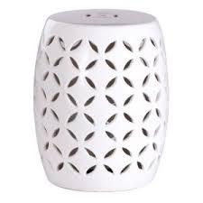 abbyson tristen ceramic garden stool quick view white garden stool k46