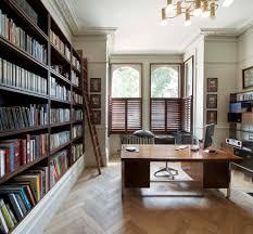 home office bookshelves. Floor To Ceiling Bookcase Home Office Transitional With Black Desk Lamp Built In Bookshelves