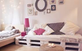 pallet bed frame diy design pallets sofa furniture pink bedside lamp shabby chic paintings