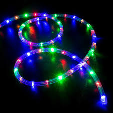 50' Multi-Color (RGB) LED Rope Light - Home Outdoor Christmas ...