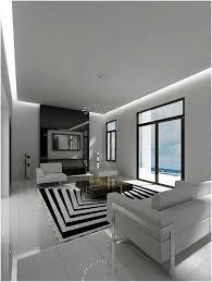 15 Moderne Zeitgenössische Schwarze Und Weiße Wohnzimmer Innen Teppich Schwarz  Weiß Mit Bilder Einrichtung Wohnzimmer Good Looking