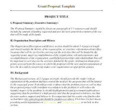 Official Proposal Template Fascinating How Writing A Proposal For Funding Template To Write Fund Request