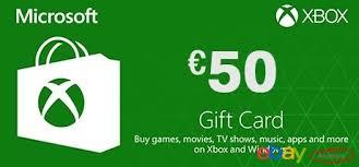 Microsoft Giftcard Microsoft Gift Card 50 Euro Xbox One 360