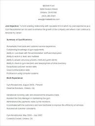 Free Resume Templates In Word Sample Gym Resume Template Free