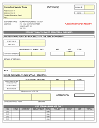Contractor Invoice Template Excel Free Expense Report Template Excel or Contractor Invoice Template 22