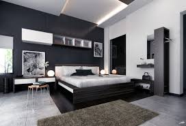 modern bedroom design ideas black and white. Plain Modern Black And White Bedroom Ideas With Two Small Table Lamps Modern Design L