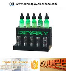 E Liquid Display Stand Vapor Store Eliquid Display LED Lighting Acrylic Color Smoke 57