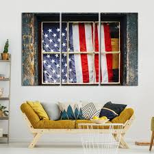 patriotic window multi panel canvas wall art on patriotic canvas wall art with patriotic window multi panel canvas wall art elephantstock