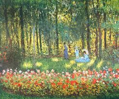 the artist s family in the garden 1875 claude monet
