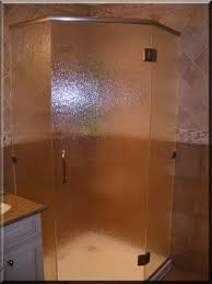frameless neo angle rain glass shower enclosure