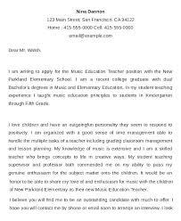 Cover Letter Template Teaching Position Student Teacher Cover Letter ...