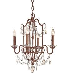 feiss gianna scuro 4 light mini chandelier undefined