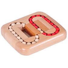Wooden Games For Adults Classic IQ Wood Game Mind Brain Teaser Beads Wooden Puzzle for 80