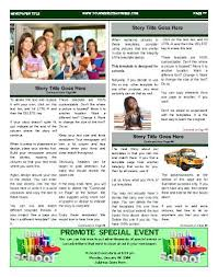 School Newspaper Template Publisher Free School Newspaper Template Onbo Tenan