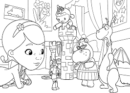 Doc Mcstuffins Theater Coloring Pages For
