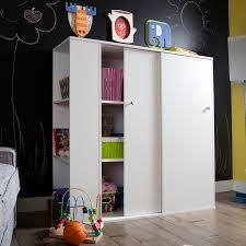 South Shore Crea Kids Storage Cabinet with Sliding Doors White