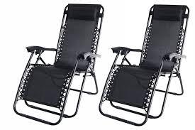 2x palm springs zero gravity garden chairs lounge outdoor yard patio chair black co uk garden outdoors