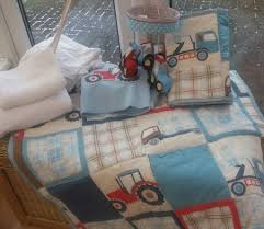 baby boy cot bed bedding set hand crafted using laura ashley fabric