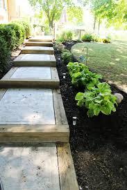 concrete stairs design cool images diy backyard pathway ideas walkway