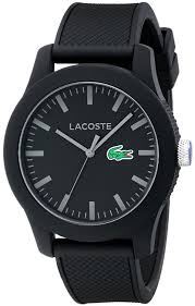 lacoste men s 2010766 12 12 black watch textured band lacoste men s 2010766 12 12 black watch textured band lacoste amazon ca watches