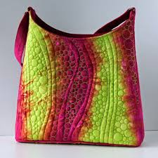 Best 25+ Quilted handbags ideas on Pinterest | DIY quilted bags ... & Jana Dohnalová hand dyed and free motion quilted handbag Adamdwight.com