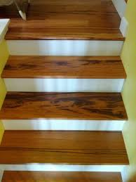 How To Hardwood Stairs Tigerwood Hardwood Stairs Installed By Precision Flooring Visit