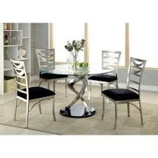 beulah 5 piece dining set metal dining chairsround dining tablesgl