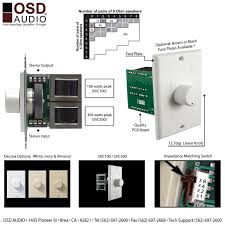 osd audio svc100 100 watt impedance matching decora style rotary 70v Speaker With Volume Control Wiring Diagram osd audio svc100 100 watt impedance matching decora style rotary speaker volume control kit with white, ivory and almond colored plates 70 volt speaker volume control wiring diagram