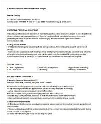 sample personal assistant resume sample personal assistant resume 8 examples in word pdf