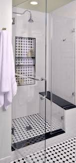Black And White Shower Tile Designs Before After This Vintage Inspired Master Bathroom Is An