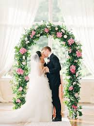 indoor wedding arches. romantic wedding arch with greenery and hydrangea indoor arches d