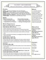Medical Transcription Resume Medical Billing Cover Letters Medical  Transcriptionist Cover Letter Examples Medical Transcription Resume Sample      Resume   Free Resume Templates