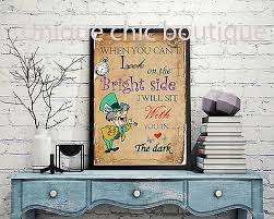 disney alice in wonderland wall art quote print poster a4 madhatter on alice in wonderland wall art quotes with disney alice in wonderland wall art quote print poster a4 madhatter
