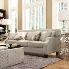 Broadway Grey Fabric Sloped Track Arm Sofa