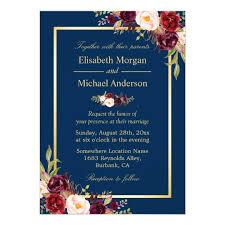 rustic_burgundy_floral_gold_navy_blue_wedding_card r3779945809a140cb8b6c044c18b948f8_zkrqe_540?rlvnet=1 rustic burgundy floral gold navy blue wedding card zazzle com on wedding invitations with navy blue