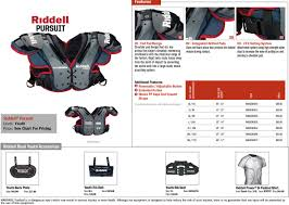 Riddell Football Shoulder Pads Size Chart Sppss Riddell Varsity Junior Varsity Youth Shoulder Pads