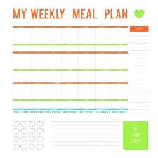 Free Printable Weekly Menu Template Grand Design Meal Plan