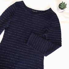 Atmosphere Knitted Sweater Dress W Gold Filling