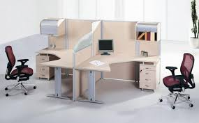 office work desk. Double Work Desk Design In Cool Office Area