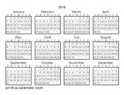 yearly printable calendar 2018 calendar 2018 print tempss co lab co