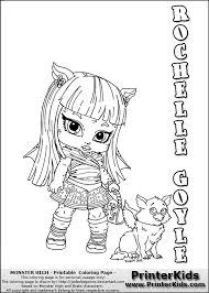 Small Picture Monster High Rochelle Coloring Pages GetColoringPagescom