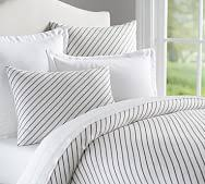 grey and white striped duvet cover. Delighful Duvet Beckett Belgian Flax Linen Stripe Duvet Cover U0026 Sham To Grey And White Striped V