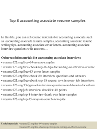 top8accountingassociateresumesamples 150404032146 conversion gate01 thumbnail 4 jpg cb 1428135755
